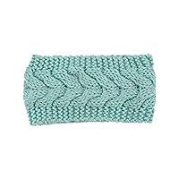 Satinior Ear Warmer Twist Knitted Hairband Braided Knit Head Band Winter Crochet Headbands for Women, Girls - Blue - Medium