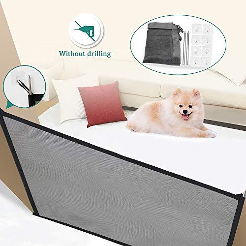 VSTON Puerta de Perro Interior para Puertas Plegables de Seguridad para Mascota...