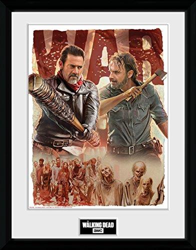 GB eye Ltd Walking Dead, Season 8Illustration Kunstdruck, gerahmt, 30x 40cm, Holz, Verschiedene, 52x 44x 3cm (The Walking Dead-möbel)