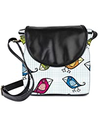 Snoogg Vector Seamless Pattern With Cartoon Birds Womens Sling Bag Small Size Tote Bag