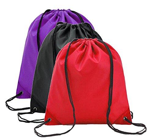 DD UP Unisex Turnbeutel Sportbeutel Klassische Sporttaschen Rucksäcke & Taschen Purple-Black-Red