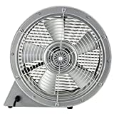 modern designter Ventilator - Lüfter für Tisch oder Boden Ø 39cm 35W - fernbedienbar - leise / silber - 2