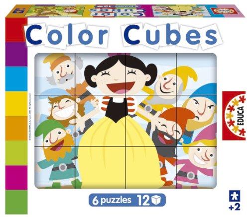 Educa Borrás 14579 - Color Cubes 12 Cuentos Clasicos