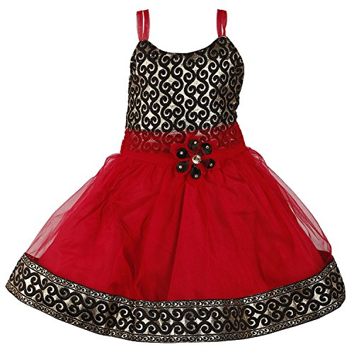 Wish Karo Baby Girls Party Wear Frock Dress Dn 589 _03-6 Mnth