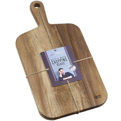 Image of Jamie Oliver Akazienholz Schneidbrett mit Griff JB1900 Größe S. Perfekt Geeignet Auch als Servierbrett. 42 x 21 x 2 cm