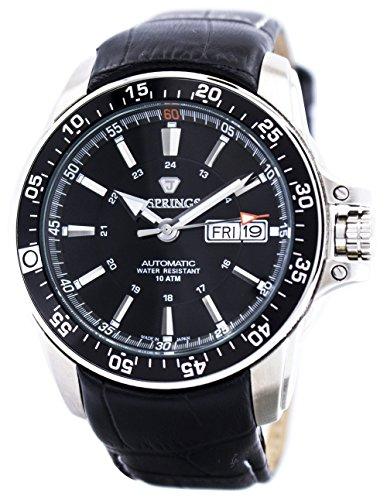J. Springs Herren Analog Automatik Uhr mit Leder Armband BEB097