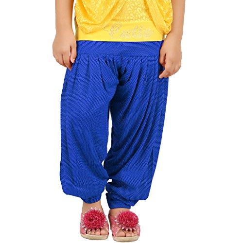 Goodtry Girls Printed Design Patiala-Royal Blue
