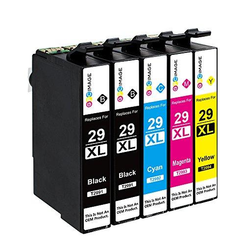 Gpc image 5 pack 29xl 29 cartucce d'inchiostro compatibili per epson 29xl (2 nero, 1 ciano, 1 magenta, 1 giallo) per epson expression home xp-342 xp-245 xp-442 xp-235 xp-335 xp-432 xp-435 xp-332 xp-345 xp-247 xp-445 stampante
