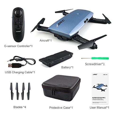 QUINTRA JJRC H47 Elfie Faltbare Tasche Drohne Mini - Fpv Quadcopter Selfie 720p Wifi - Kamera Blau