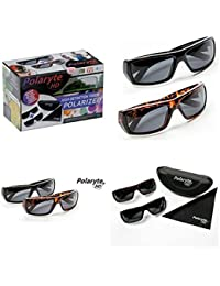 HD Polarized Sunglasses For Men And Women, 2 Pairs Of Black And Brown Sunglasses Make Your Vision High Definition...