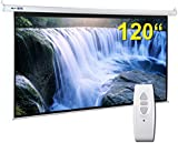 "BPS Electric Motorised 120"" 16:9 Projector Screen Full HD/3D Matt White + Remote Control TV DVD Home Cinema"