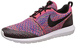 Nike Mens Nike Roshe Nm Flyknit SE Bright Crimson and Black Running Shoes - 7 UK/India (41 EU)(8 US)