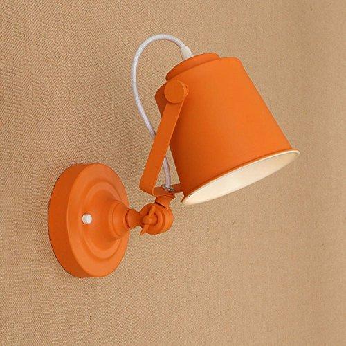 SADASD Bügeleisen Kunst kann eingestellt werden Nach Oben und Unten 5 W +, Orange Wandleuchte Bed modernen minimalistischen Schlafzimmer Kreative europäische Stil Wohnzimmer Treppenhaus Gang Hotel Wand Lampen,