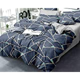 HOMERICA AC Comforter for King Size Double Bed , Package Contents - 1 AC Comforter with Carry Bag, Fabric - 150 TC Polycotton, Polyfill Filled (Grey Scape)