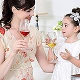 Weingläser plastik ThreeCat unzerbrechliche weingläser 100% Tritan Bruchsicher weinglas aus kunststoff Transparent wie echtes Gläser BPA-frei,12.5OZ (355ml),4er Set - 2