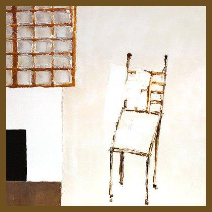Christian Choisy Poster Kunstdruck Bild Interieur a la vieille chaise 70x70cm im Alu Rahmen in Bronze -