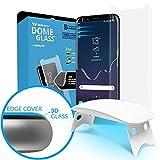 Dome Glass Galaxy S8+ Protector Pantalla, 3D Borde Curvo Cristal Templado [Tecnología de Dispersión Líquida] Fácil de Instalar Kit por Whitestone para Samsung Galaxy S8 Plus