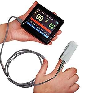 Contec Capteur de doigt de l'écran Tactile, Oxymètre de Pouls PM-60A