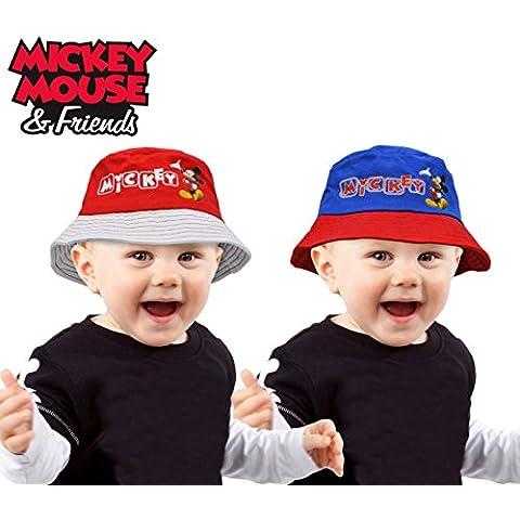 MWS2549 305875 Sombrero infantil tipo pescador con diseño MICKEY MOUSE (AZUL - 50 CM)