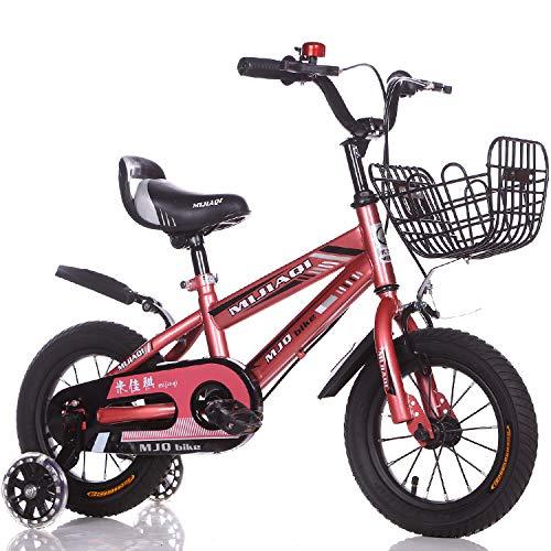 1-1 Mountainbike Kinder Fahrrad Verstellbare Höhe Blitz PU-Räder Doppelbremse Junge Mädchen Sicherheit Dämpfung 18 Zoll,Pink