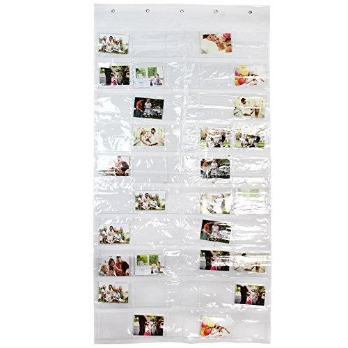 Jago portafoto da parete plastica con 50 tasche per foto for Portafoto verticale da parete