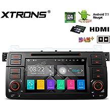 XTRONS HDMI Android 7.1Quad Core 7Inch HD Digital pantalla táctil Radio estéreo de coche reproductor de DVD GPS para BMW E46/320/325Rover 75MG ZT