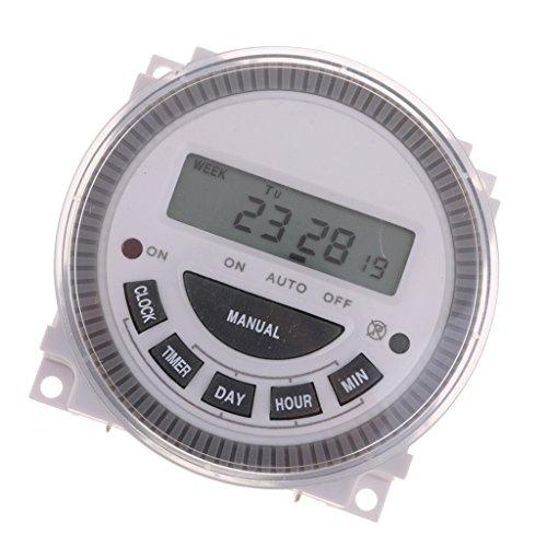 Homyl 1 Stück Digitaler Zeitschalter AC 220V für Lichter, Ventilatoren, Heizung und andere elektrische Haushaltsgeräte