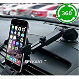 SPYKART Adjustable Mobile Holder/Mobile Stand/Car Stand with Quick One Touch Technology for Mobiles Phones (Black)