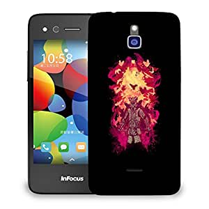 Snoogg Dangerous Samurai Designer Protective Back Case Cover For INFOCUS M2