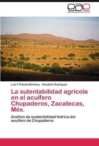 La sutentabilidad agrícola en el acuífero Chupaderos, Zacatecas, Méx.: Análisis de sostenibilidad hídrica del acuífero de Chupaderos