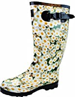 Highlander Women's Countrywoman Wellingston Boots - Daisies, Size 4