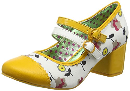 Poetic Licence by Irregular ChoiceMini Mod - Scarpe con Tacco donna , multicolore (Multicolour (White/Yellow)), 39 1/3