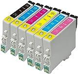 6×T0481 T0482 T0483 T0484 T0485 T0486(T0487)Tintenpatrone, kompatibel mit For Epson Stylus Photo P50 PX650 PX660 PX700W PX710W PX720WD PX800F PX810FW PX820FWD Drucker (1 x T0481,1 x T0482, 1 x T0483,1 x T0484, 1 x T0485, 1 x T0486)