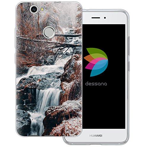dessana Wälder Transparente Silikon TPU Schutzhülle 0,7mm dünne Handy Tasche Soft Case für Huawei Nova Wald Wasserfall -