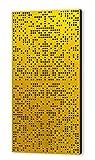 Binary Difuser 122x61x10 by Addictive Sound Akustikdiffusor, Akustikpaneel, Homerecording, akustische Isolierung, Bassfalle, Schalldämmung für Studio, Büro, Zuhause, spezielles Binärmuster (Curcumma)