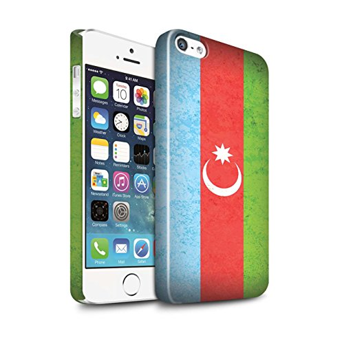 STUFF4 Glanz Snap-On Hülle / Case für Apple iPhone 6S+/Plus / Pakistan/Pakistanisch Muster / Asien Flagge Kollektion Aserbaidschan