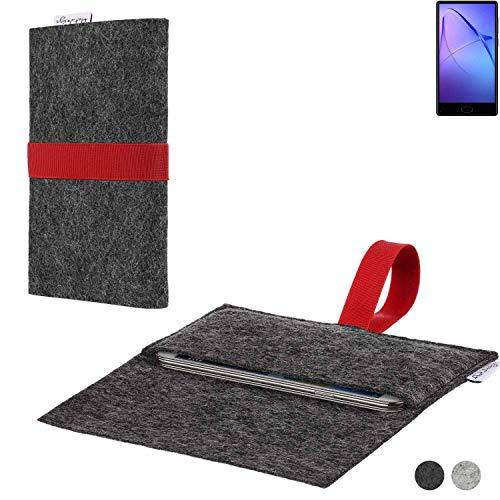 flat.design Handy Hülle Aveiro für Bluboo S1 passgenaue Filz Tasche Case Sleeve Made in Germany
