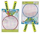 Federball Badminton Set für Kinder 2 Stk mit großen Köpfen kleine Schläger