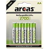 Arcas - Lot de 4 Accus NiMH HR6 / AA / 2700mAh / 1,2V