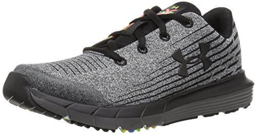 Under Armour Children Boys BPS X Level Splitspeed Trainers in Black Grey- Lace