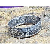 Münzring Coinring,coinring 1 Mark,Deutsches Reich, Kaiserreich verschiedene Grössen Handgeschmiedet Unikat Silberring