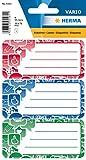 Herma 5561 Namens-Heftetiketten für die Schule, Motiv Social Icons, Format 7,6 x 3,5 cm, Inhalt pro Packung: 9 Etiketten