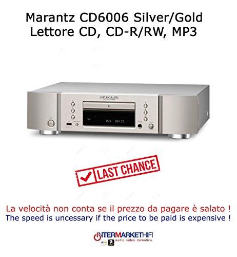 Player CD/SACD Marantz cd6006CD-R/RW, MP3, WMA, kontinuierliche File Waw-Eingang USB-A