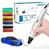 3D Druck Stift mit OLED-Bildschirm, Jiamus intelligente 3D Drucker Zeichnung Stift, kompatibel mit 1,75 mm PLA/ABS Filament,12 Fuß in 120 Farben,für Kinder und Erwachsene,am besten für DIY-Geschenk