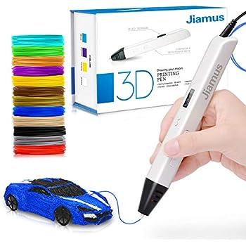 3D Printing Pen, Tecboss Intelligent 3D Pen with 2 Pack PLA