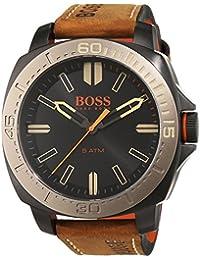 BOSS Orange Herren-Armbanduhr SAO PAULO Analog Quarz Leder 1513314