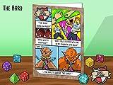 Geek Humour Grußkarte. Mit einem Fantasy RPG Parodie Thema basiert auf die Bard Charakter. Für Weihnachten, Geburtstag Karten oder nur weil. Für Gamer, Spiel Fans, und Diejenigen, die lieben Drachen und Dungeons.