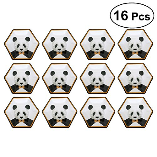 eburtstag Grill Einweg Pappteller Party Favors Supplies für Kinder (Panda) ()