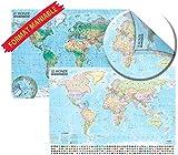 Carte du monde : politique et physique : 1/43 000 000...