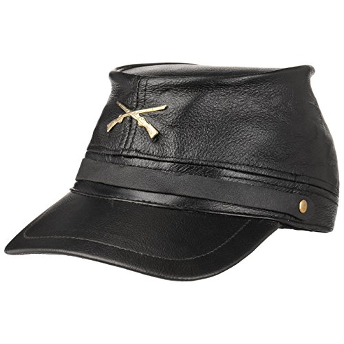Hutshopping Civil War Hat Black Staatenmütze Ledermütze Kappe (One Size - schwarz)